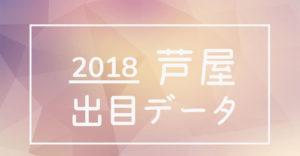 2018年ボートレース芦屋競艇場出目データ