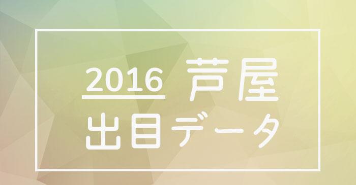 2016年度ボートレース芦屋競艇場出目データ