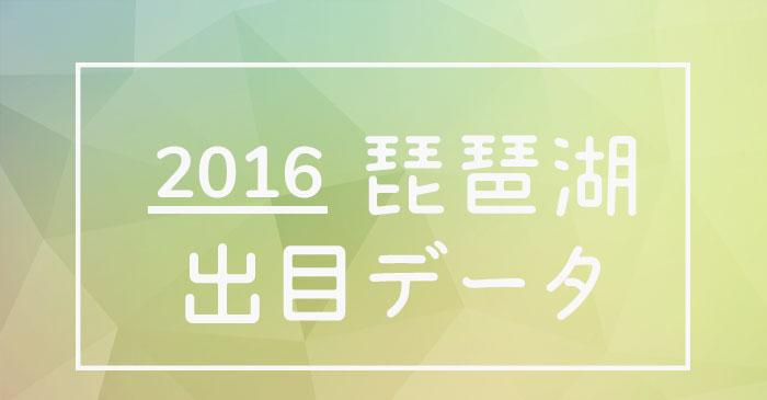 2016年度ボートレース琵琶湖競艇場出目データ