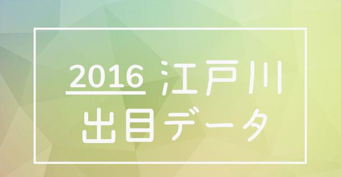 2016年度ボートレース江戸川競艇場出目データ