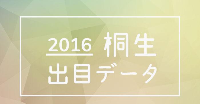 2016年度ボートレース桐生競艇場出目データ