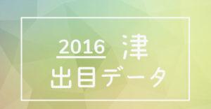 2016年度ボートレース津競艇場出目データ