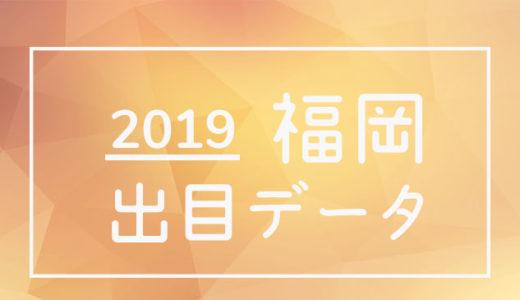 2019年ボートレース福岡競艇場:出目データ