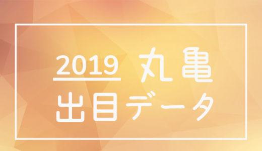 2019年ボートレース丸亀競艇場:出目データ