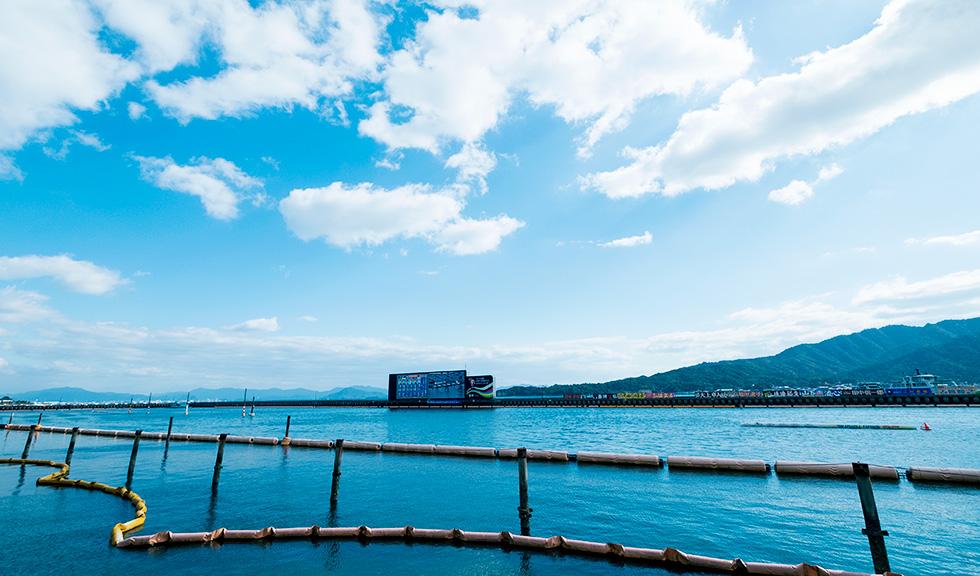 宮島競艇場 水面2