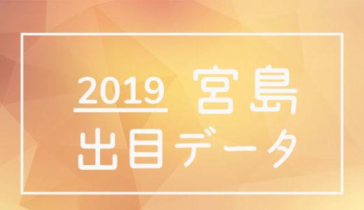 2019年ボートレース宮島競艇場:出目データ