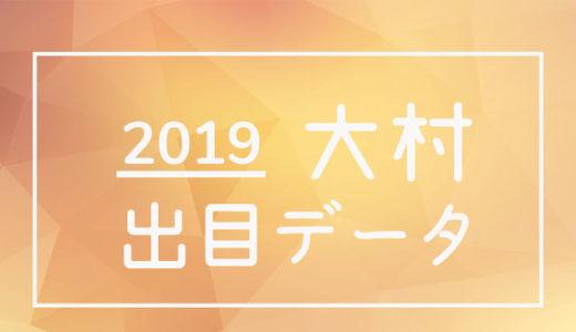 2019年ボートレース大村競艇場:出目データ