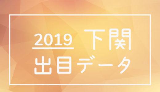 2019年ボートレース下関競艇場:出目データ