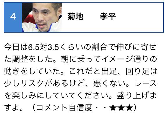 菊地孝平選手コメント