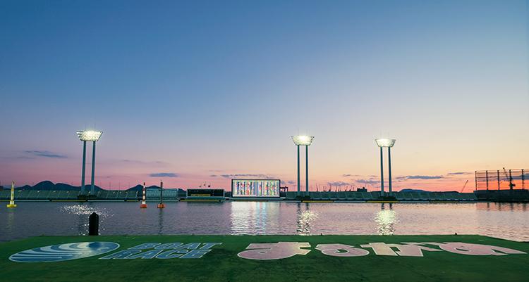 ボートレース丸亀競競艇場の水面写真