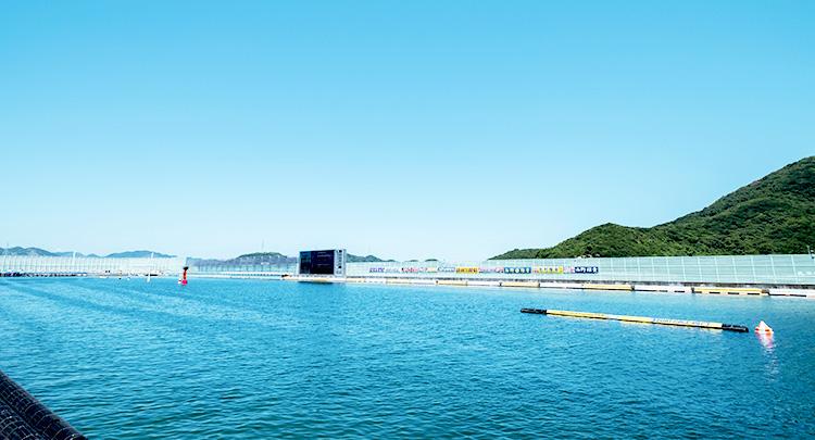 ボートレース鳴門競艇場の水面写真
