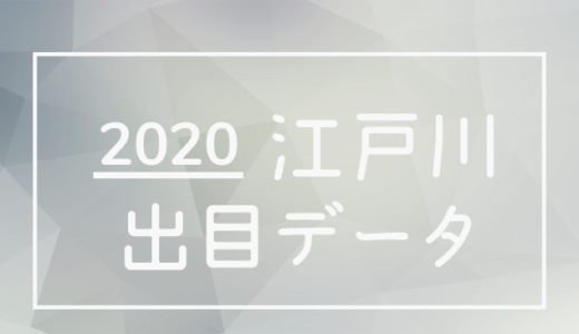 2020年ボートレース江戸川競艇場:出目データ