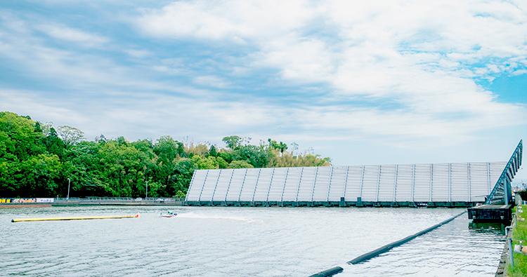 ボートレース三国競艇場-1マーク写真